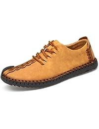 メンズ カジュアルシューズ デッキシューズ 革靴 メンズ 手作り ローカット ワークブーツ オックスフォードの靴 カジュアルシューズ ファッションスニーカー レースアップシューズ 通勤用 防滑24.0cm~28.0cm