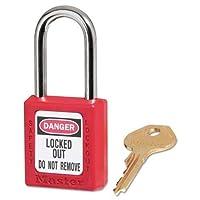 マスターロック–政府安全ロックアウト南京錠、Zenex、11/ 2インチ、レッド、1キー、6/ボックス410red ( DMI BX