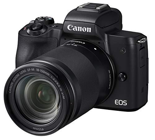 Canon キヤノン ミラーレス一眼 EOS Kiss M ブラック レンズキット EF-M18-150 IS STM付属 EOSKISSMBK-18150ISSTM-A