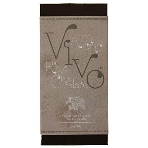 アーモンド ローチョコレート『Vivo』 生カカオ70% 砂糖・乳製品は一切不使用 酵素が生きた生チョコレート