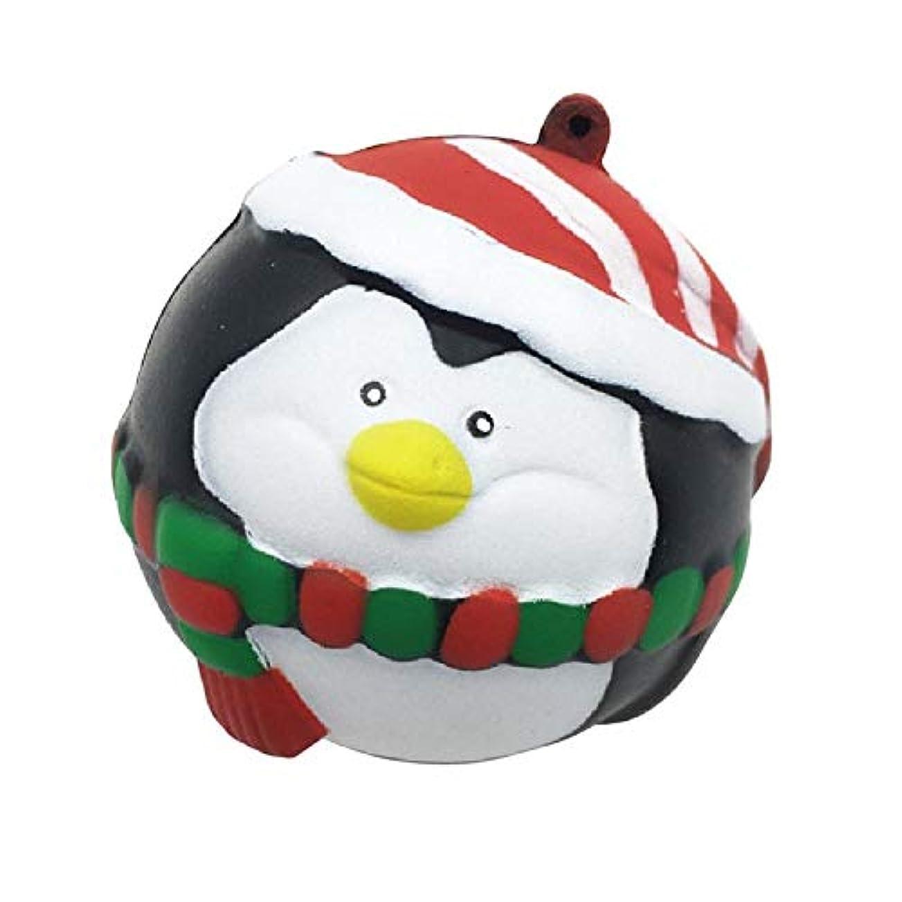 準備するステーキ宙返り面白いギフト Squishiesは、サンタ雪だるまペンギンの装飾ペンダントフワフワ、クリーミーアロマはスロー少年 用のスクイズおもちゃライジング