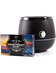 Mystic Moments | Black Aromatherapy Oil Ultrasonic Diffuser With Bluetooth Speaker & LED Lights + Aromatherapy...