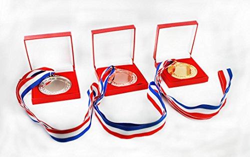 naissant 【3個セット】 金 銀 銅 メダル & 高級 ボックス セット 表彰 スポーツ 会社 学校 イベント パーティ などに