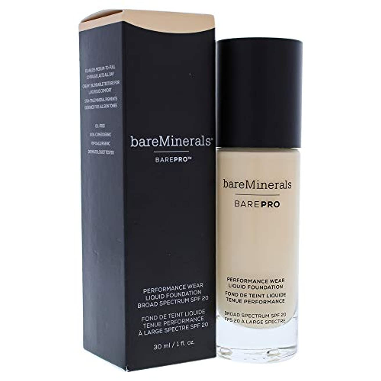 鎮静剤称賛モックベアミネラル BarePro Performance Wear Liquid Foundation SPF20 - # 07 Warm Light 30ml/1oz並行輸入品