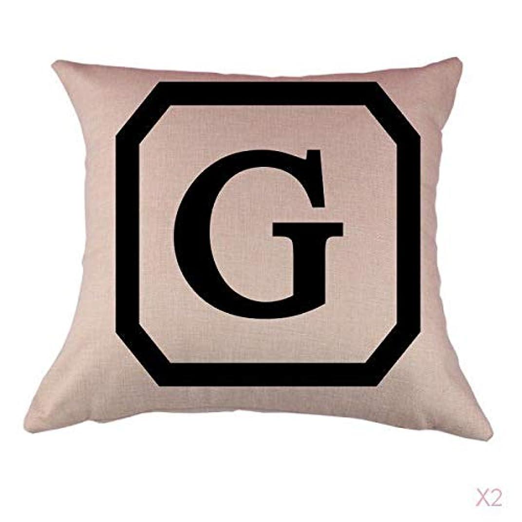 再開増加する言語学コットンリネンスロー枕カバークッションカバー家の装飾頭文字グラム