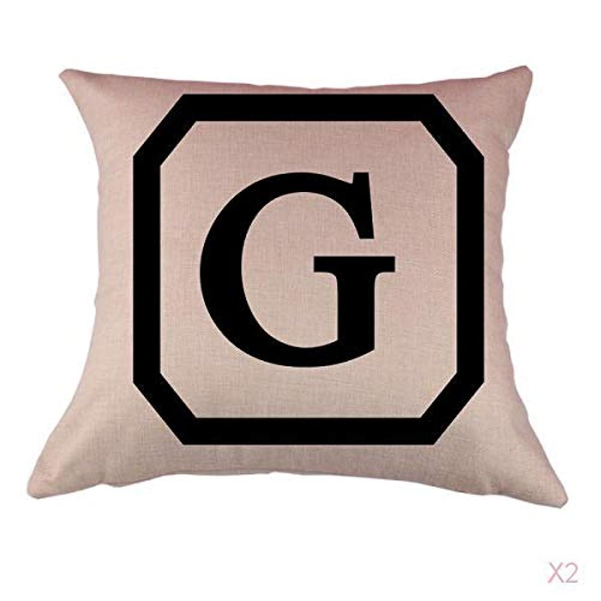 成功する矢振るうコットンリネンスロー枕カバークッションカバー家の装飾頭文字グラム