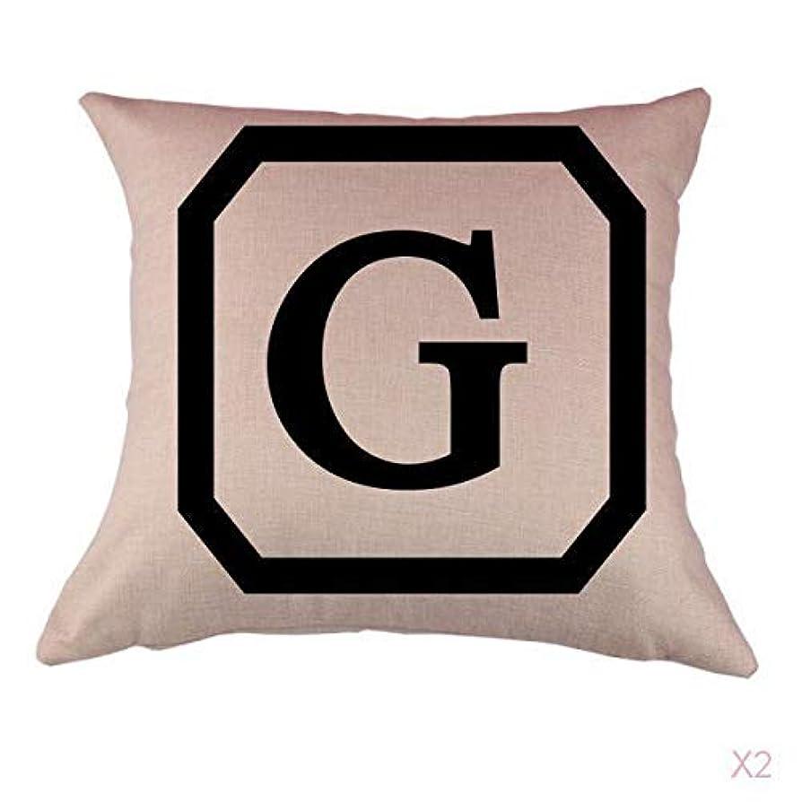 引っ張る歴史的セッティングコットンリネンスロー枕カバークッションカバー家の装飾頭文字グラム