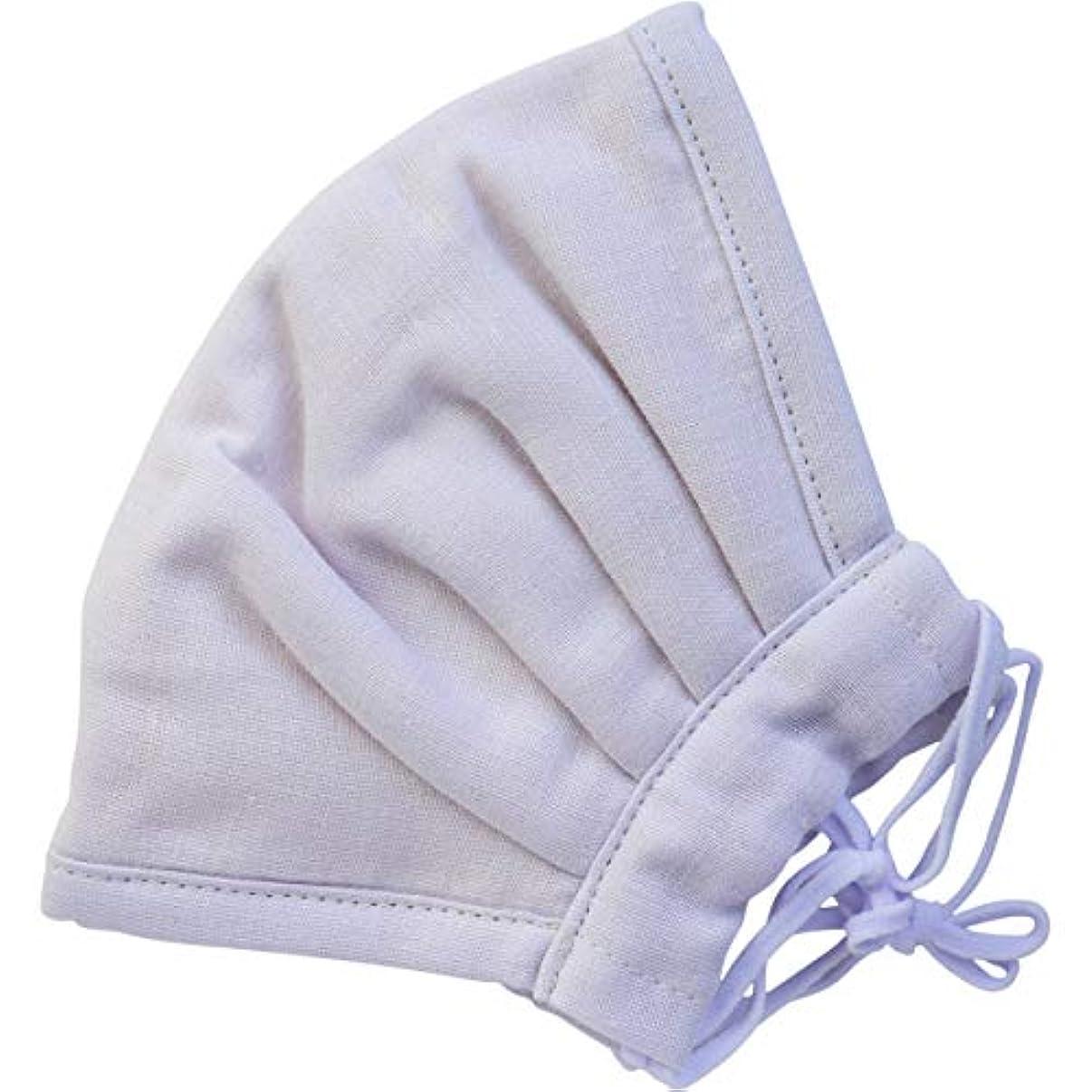 現実持つおとなしいふわふわマスク 今治産タオル 超敏感肌用 パープル ゆったり大きめサイズ 1枚入×5個セット