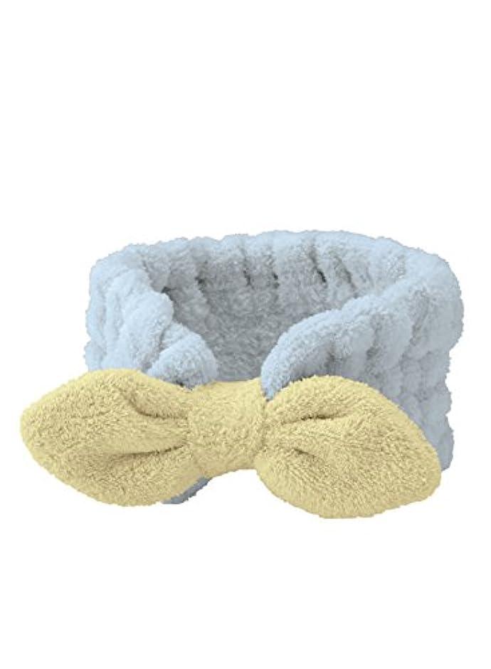 束冷ややかな雇用シービージャパン ヘアバンド ブルー 吸水 速乾 ふわふわ 洗顔 マイクロファイバー カラリモア carari