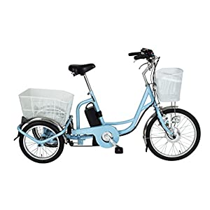 ミムゴ(MIMUGO) アシらくチャーリー 電動アシスト三輪自転車 MG-TRM20EB ライトブルー