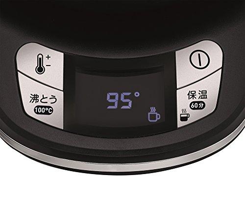 ティファール () 電気ケトル アプレシア エージー・プラス コントロール オニキスブラック 0.8L KO6208JP