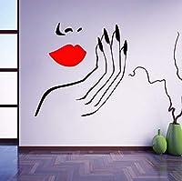 Ansyny 寝室の女の子Diyの家の装飾の女性のマニキュアサロンビニールウォールステッカー58 * 59 Cm