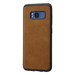 レイ・アウト Galaxy S8 ケース オープンレザー スマート/ダークブラウン RT-GS8LC12/DK