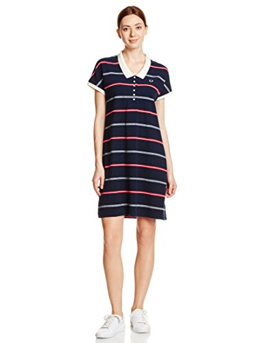 (フレッドペリー)FRED PERRY(フレッドペリー) TEXTURED STRIPE DRESS F8288 01 01NAVY 10