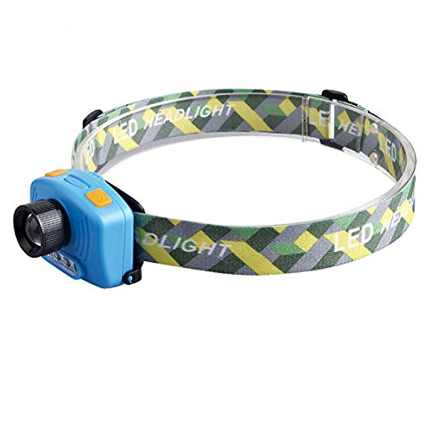発行する適応するその間赤外線センサーヘッドライト、5Wグレア充電ズームハイパワー誘導釣り夜釣りヘッドライト