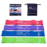 Ryher Elastic Resistance Loop Bands – Set of Workout Bands - Best for Stretching, Physical Therapy and Home Fitness - 100% European Quality Company – Instructional PDF & Handy Carry Bag
