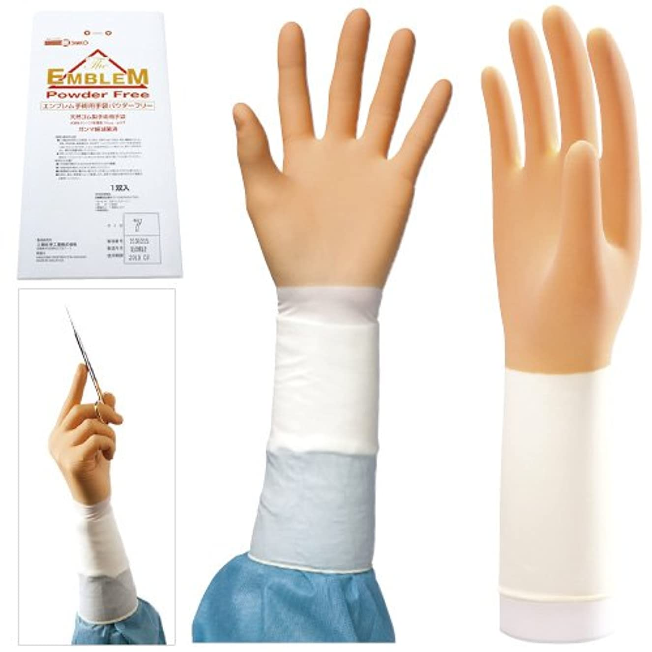 女優契約するグローバルエンブレム手術用手袋 パウダーフリー NEW(20双入) 7