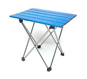 【キャンプギア・キャンプ用品・ロールテーブル】 ライトテーブル S ブルー (折畳テーブル) LT05-S(BL)