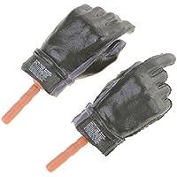 Lovoski  ラバー製 1/6スケール 黒い 手袋 ハンド 12 インチ女性アクションフィギュア玩具用  DIYアクセサリー