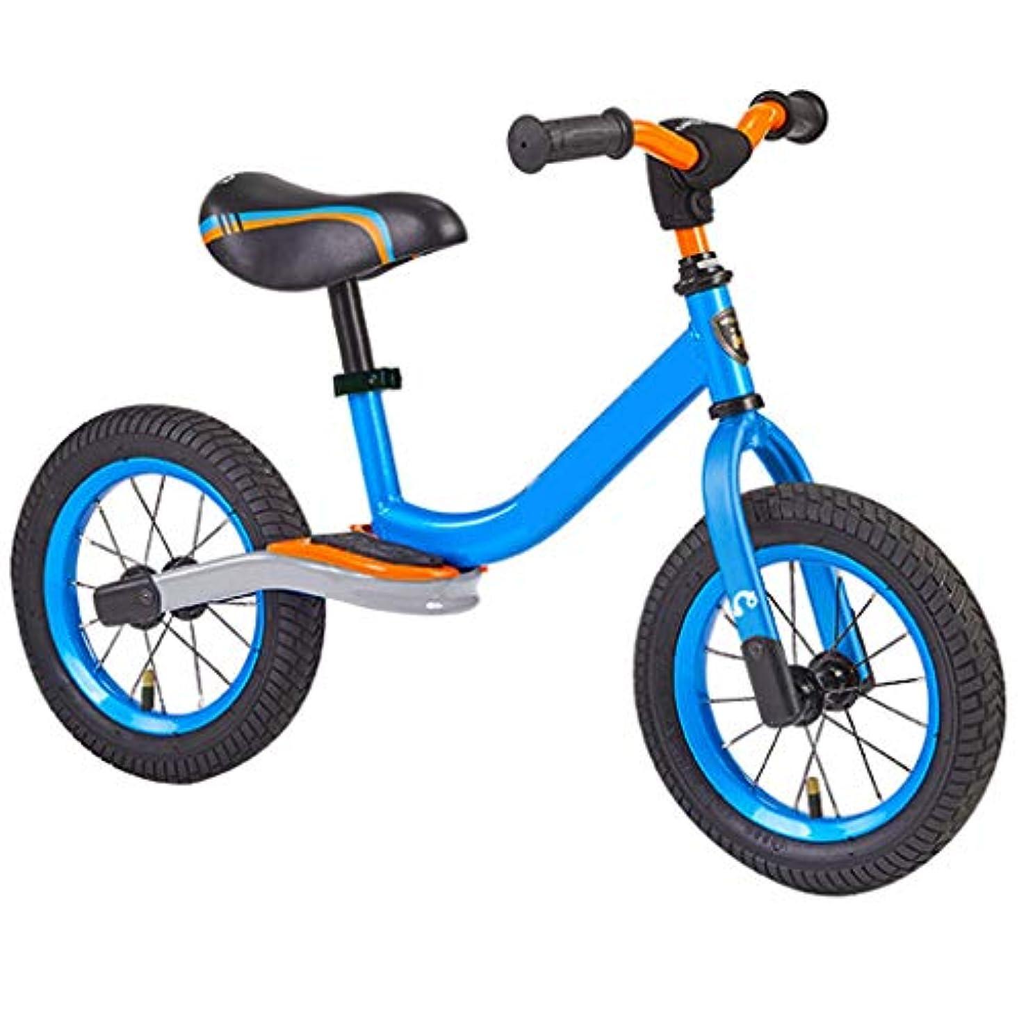 バーチャルピラミッド訴えるバランスバイク、3、4、5歳の子供向け幼児トレーニングバイク-フットレストダンピング付き超クールな色のプッシュバイク