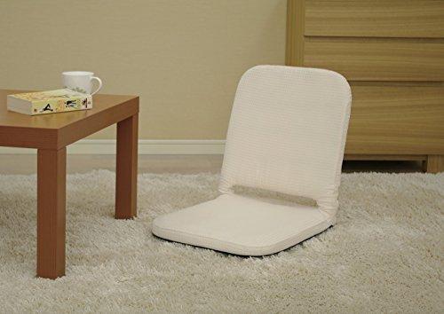 アイリスオーヤマ 座椅子 コンパクト ワッフル生地 ベージュ ZC-7