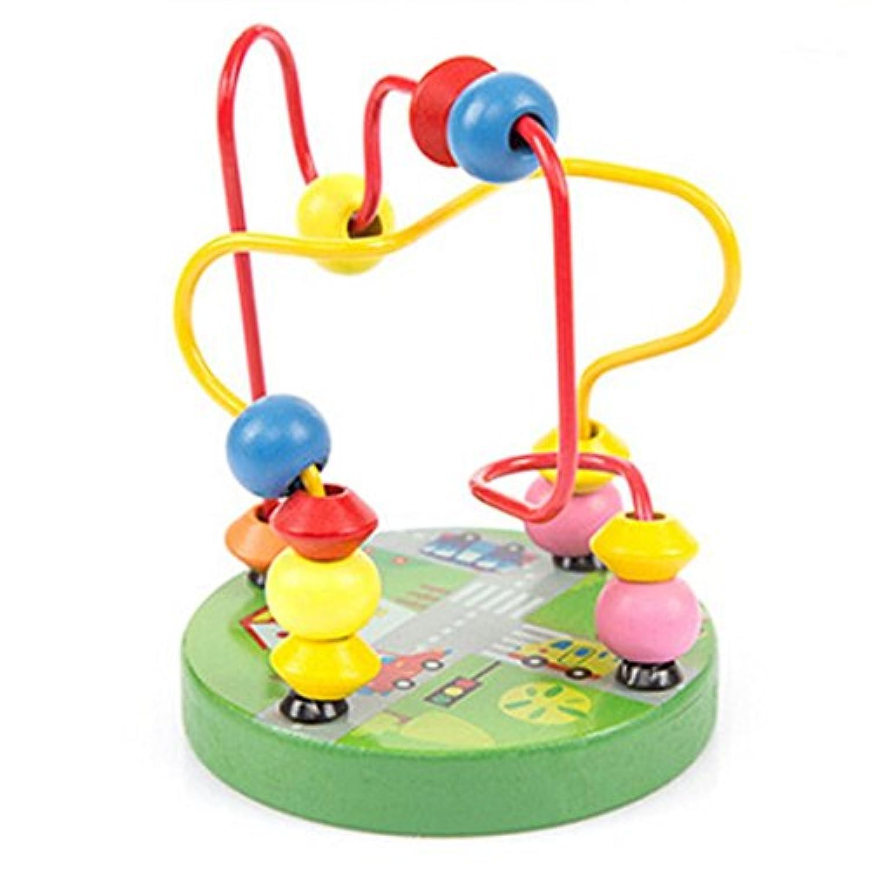 [教育玩具] Kids木製周りビーズおもちゃ幼児インテリジェンスおもちゃby dacawin Da-002028