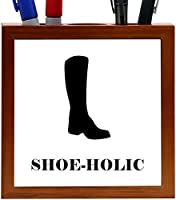 Rikki Knight ShoeHolic Cowboy Boot Design 5-Inch Tile Wooden Tile Pen Holder (RK-PH41153) [並行輸入品]