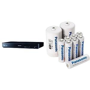 パナソニック ブルーレイプレーヤー 4Kアップコンバート対応 DMP-BDT180-K + eneloop 単3形充電池 8本パック BK-3MCC/8FA セット