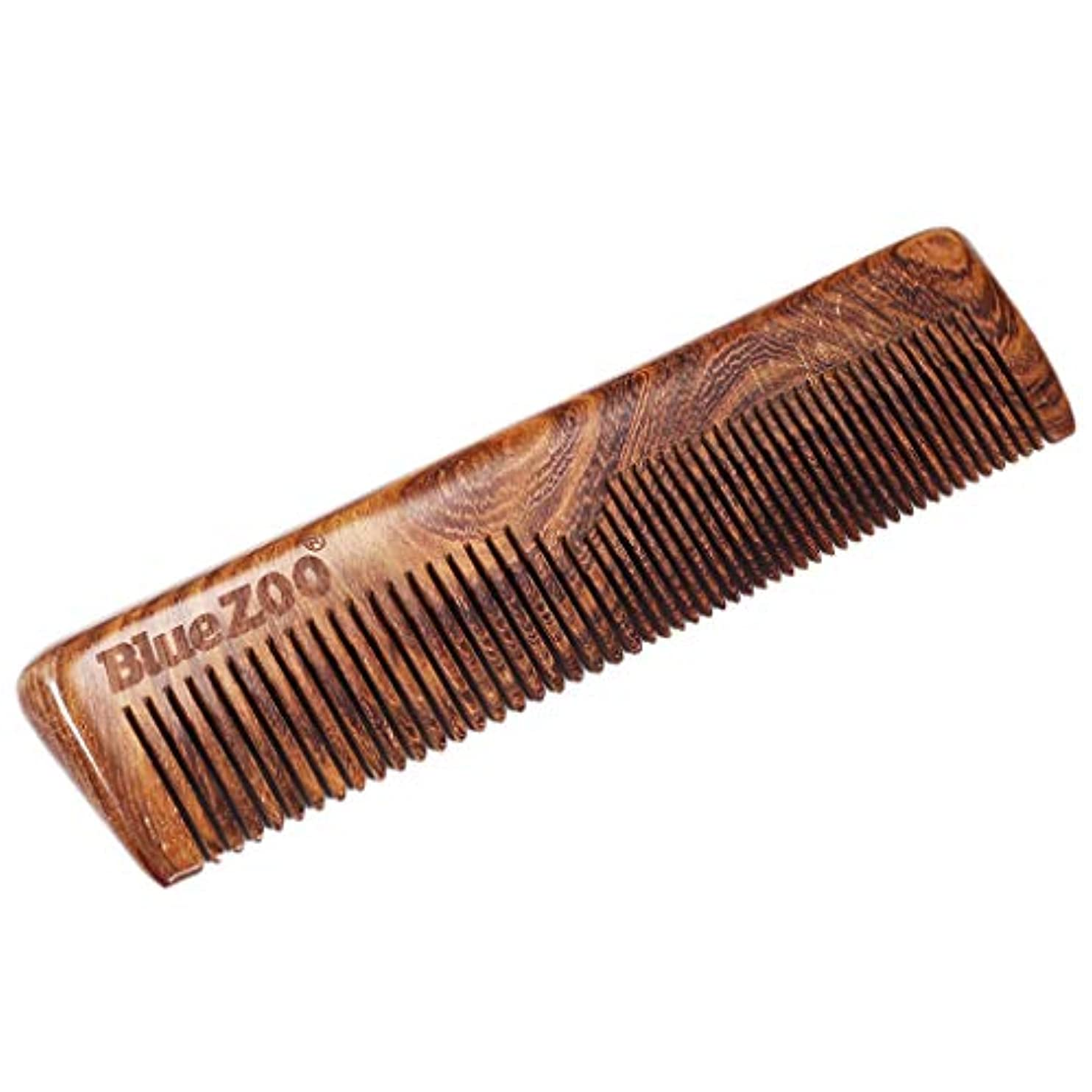 神経衰弱ディーラー方程式Toygogo 長い短い男性のひげ口ひげの髪のための携帯用自然なサンダルウッドの櫛