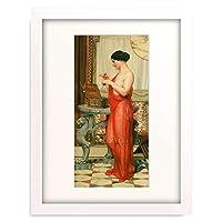 Godward, John William 「The New Perfume. 1914」 額装アート作品