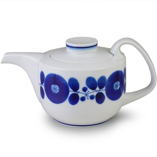 白山陶器 ポット(小) 青 (約)21×φ11.5×11cm  ブルーム BLOOM 波佐見焼 日本製
