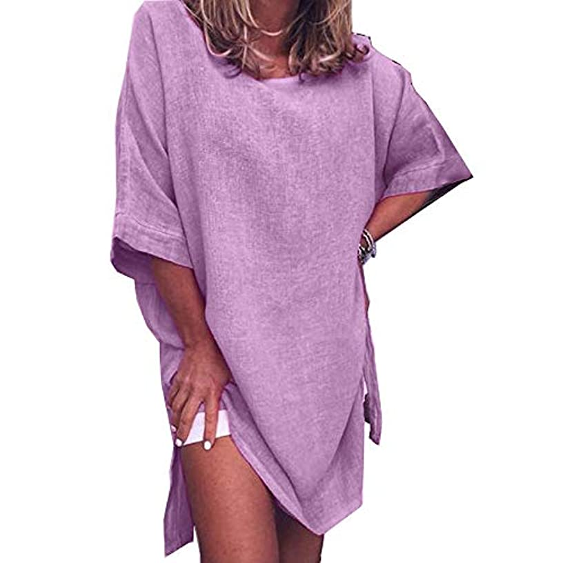 叫び声障害東部MIFAN サマードレス、ビーチドレス、ルーズドレス、プラスサイズ、リネンドレス、トップス&ブラウス、女性ドレス、カジュアルドレス