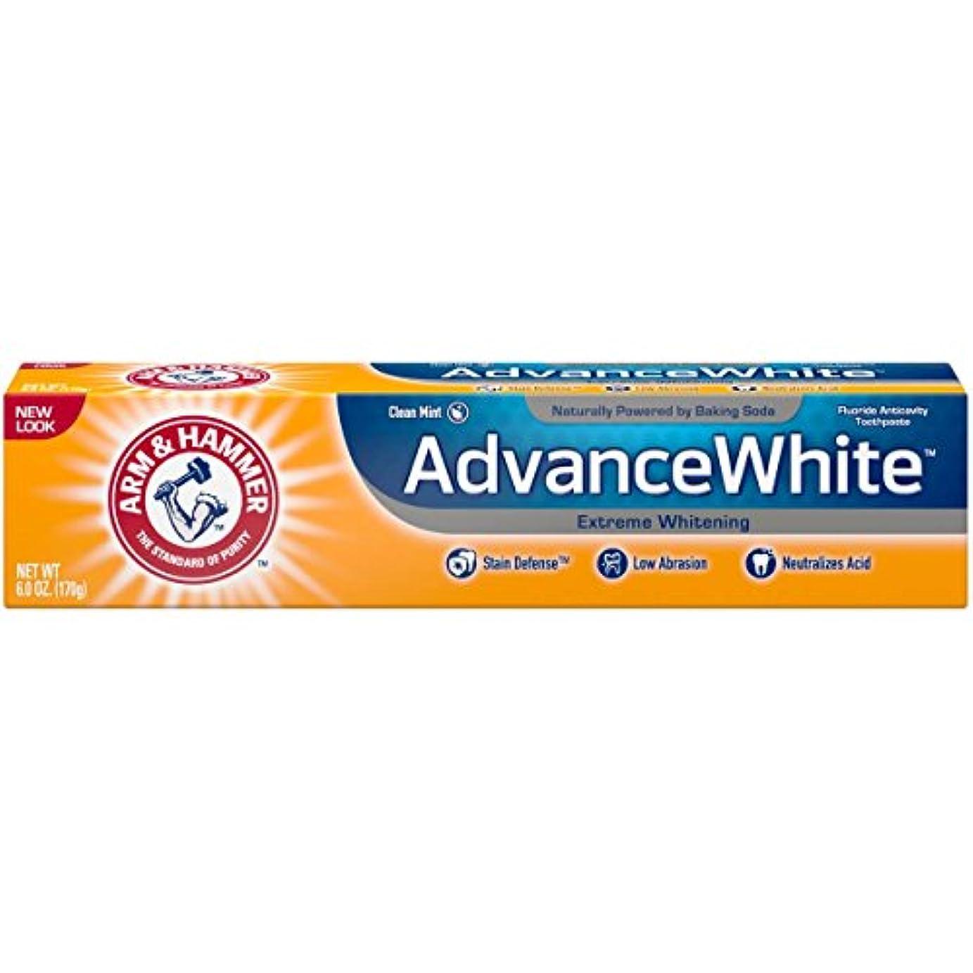 性差別不安これまでArm & Hammer アドバンスホワイトエクストリームホワイトニングで染色防衛の歯磨き粉、6オズ(3パック) 3パック