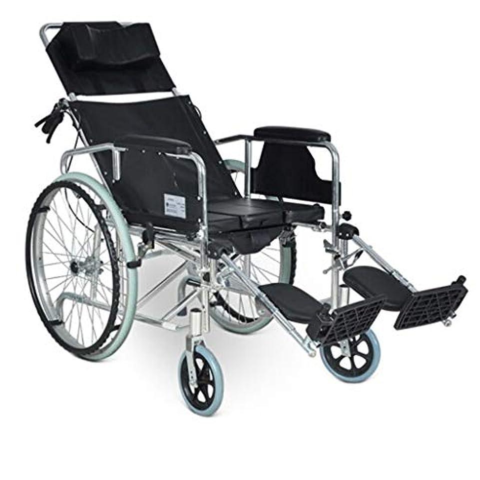 むき出し換気する気分が悪い車椅子トロリー4ブレーキデザイン、フルリクライニング折りたたみ車椅子、高齢者用多目的ワゴン