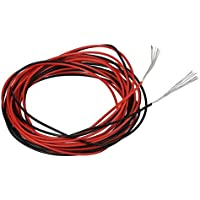 [BNTECHGO]BNTECHGO 30 Gauge Silicone Wire 20 feet 2 Colors [10 ft Black And 10 ft Red] Soft and Flexible High [並行輸入品]