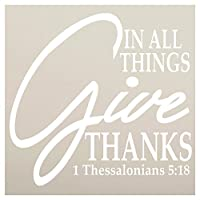 """In All Things Give Thanksステンシルby studior12