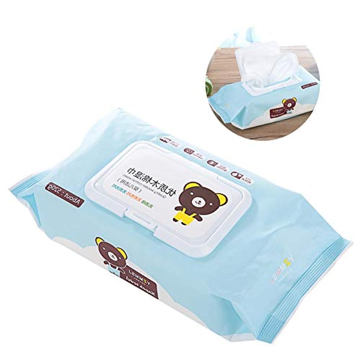 世界的に担当者印象派Yuyte 80個の柔らかい使い捨て可能なウェットワイプ赤ちゃん幼児クリーニング口手のティッシュ(02)