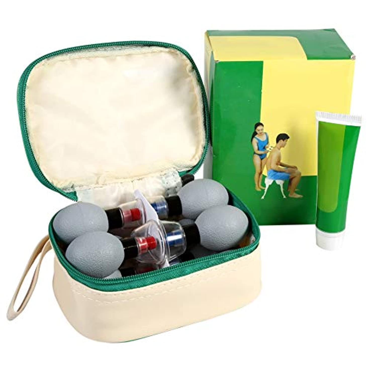 大腿鎮静剤機会カッピング装置、18ピース/セット家庭用真空ヘルスケア製品磁気指圧吸引カッピング、真空カップは目を、首の皮膚をアンチセルライト(2#)