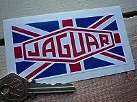 Jaguar Union Jack Oblong Sticker ジャガー ステッカー シール デカール 102mm x 52mm [並行輸入品]