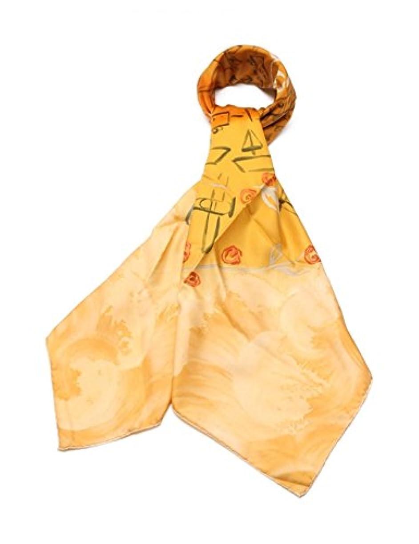 孤独戦士主要な(ルイヴィトン) LOUIS VUITTON スカーフ シルク オレンジ 小物 レディース 中古