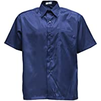 Panashop Men's Casual Short Sleeve Shirts Thai Silk
