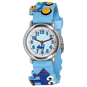 [クレファー]CREPHA 腕時計 こどもウォッチ アナログ表示 3気圧防水 ブルー AZ-BAK-4134-BL ボーイズ