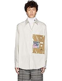 (ラフ シモンズ) Raf Simons メンズ トップス シャツ White & Beige Plastic Pocket Shirt [並行輸入品]