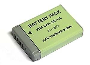 【エーポケ】NB-13Lキャノン互換 大容量バッテリー1400mAh PowerShot G7 X(G7X)