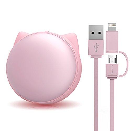 Hareda 巻き取り式USB充電ケーブル 2in1ライトニング micro...