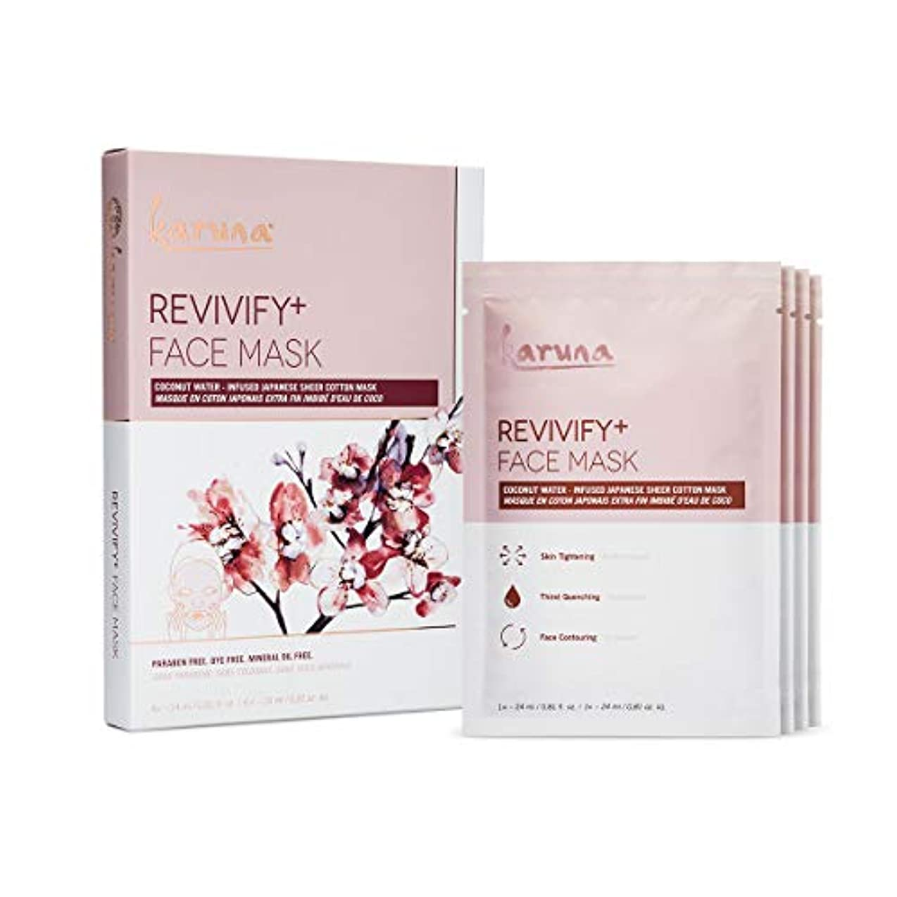 お尻受賞後Karuna Revivify+ Face Mask 4sheets並行輸入品