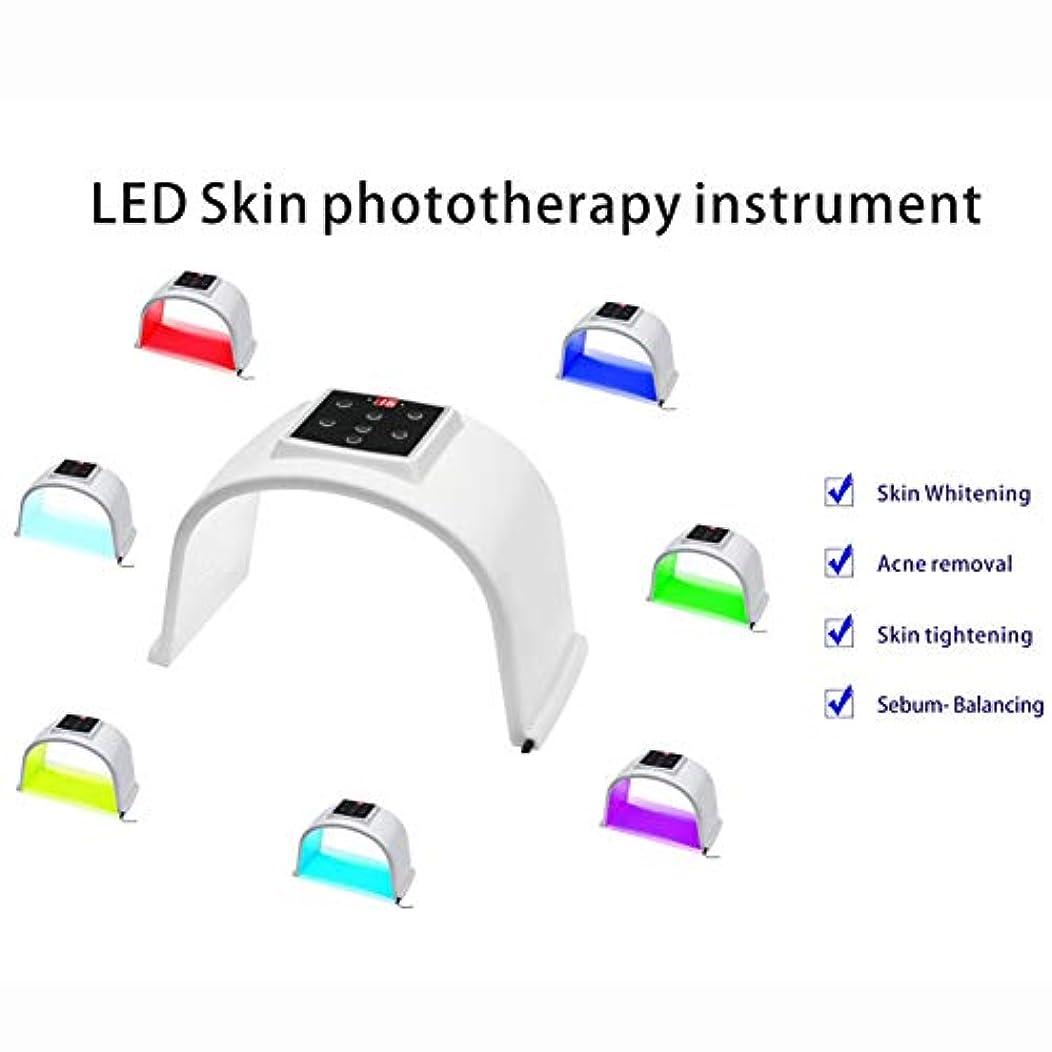 サドルトランスミッション透けて見える7色LED肌の光線療法の器械、7色LEDの顔のマスク、人及び女性の老化防止/皮の若返り/にきびの減少PDT光線療法のDermatometer
