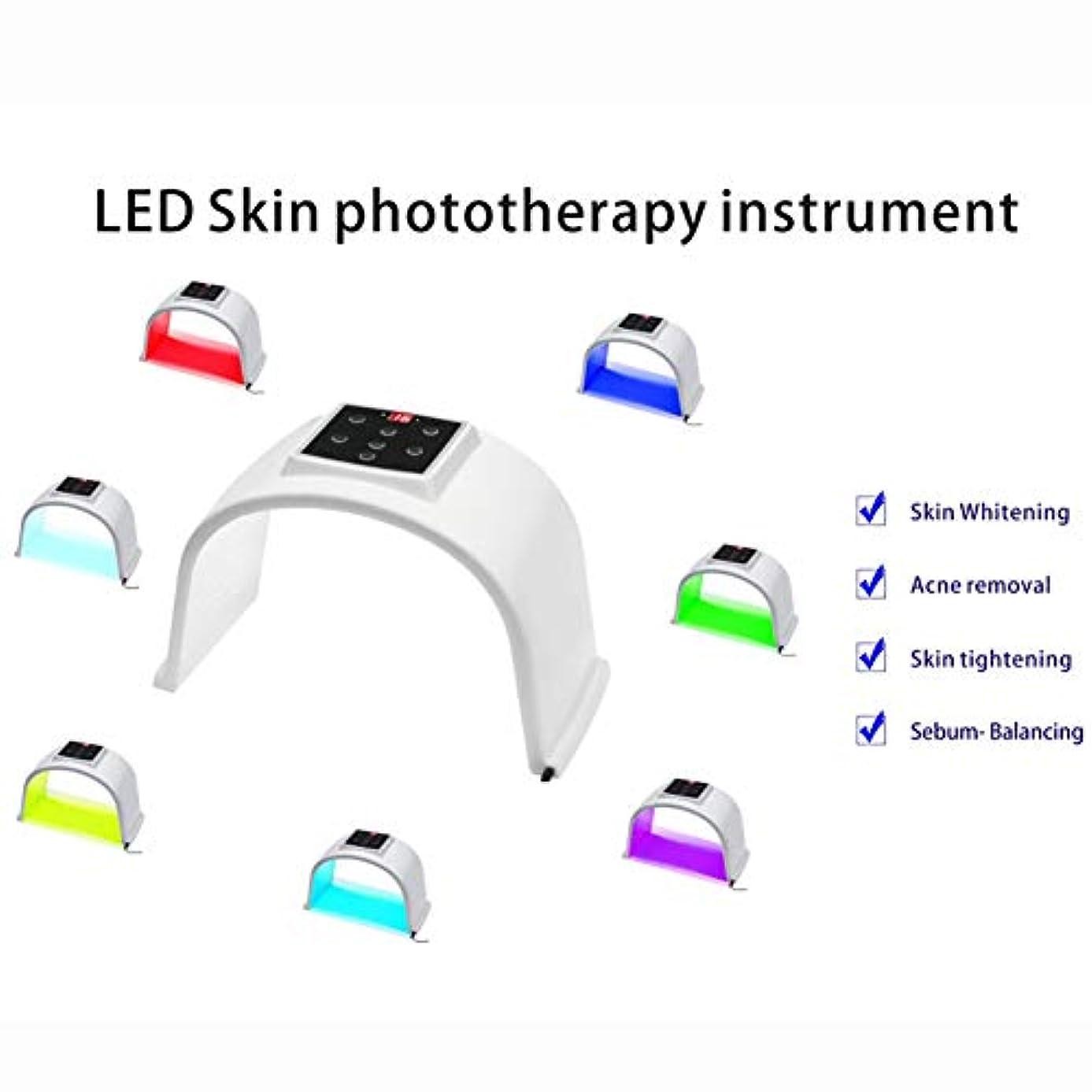 提出する費やすによると7色LED肌の光線療法の器械、7色LEDの顔のマスク、人及び女性の老化防止/皮の若返り/にきびの減少PDT光線療法のDermatometer