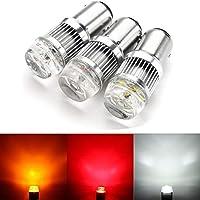 DADANGSH 1ピース1157 6SMD LED車のリバースブレーキテールライトターン電球ランプ30W 600LM DC12-24V LEDカーライト (Color : White)
