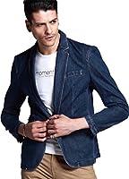 (ノームコア センス)Normcore sense メンズ デニム テーラード ジャケット 綿 ブルゾン